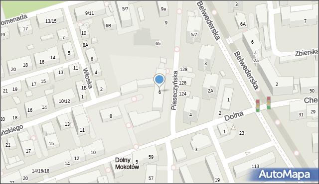 Warszawa, Dolna, 6, mapa Warszawy