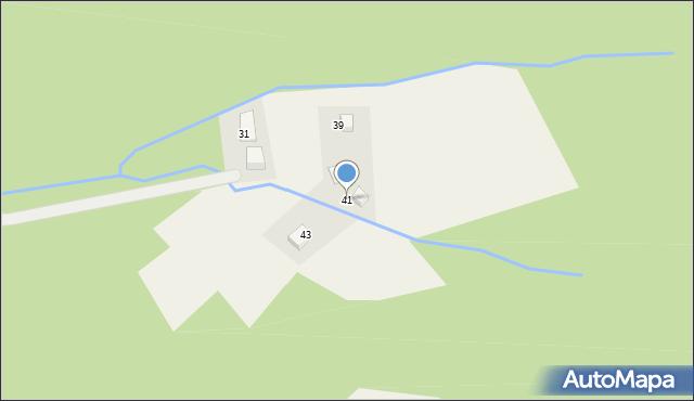 Brenna, Drożyska, 41, mapa Brenna