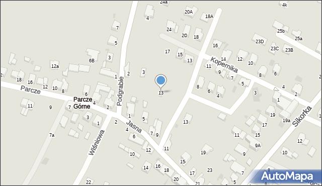Olkusz, Dygasińskiego Adolfa, 9, mapa Olkusz