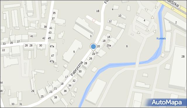 Elbląg, Fabryczna, 24, mapa Elbląga