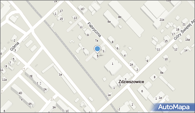 Zdzieszowice, Fabryczna, 5, mapa Zdzieszowice