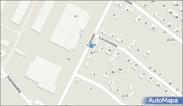 Poznań, Franowo, 8, mapa Poznania