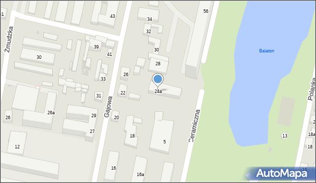 Bydgoszcz, Gajowa, 24a, mapa Bydgoszczy