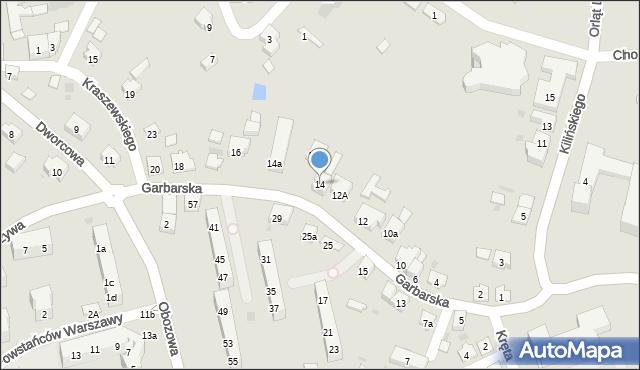 Oświęcim, Garbarska, 14, mapa Oświęcimia
