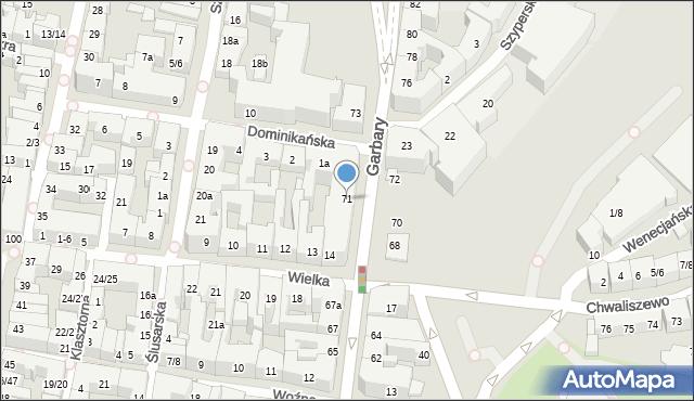 Poznań, Garbary, 71, mapa Poznania