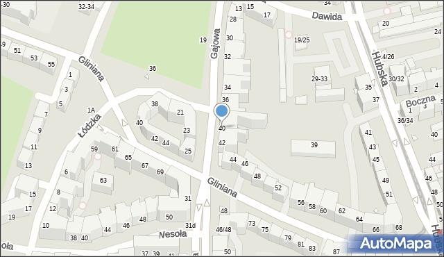 Wrocław, Gajowa, 40, mapa Wrocławia
