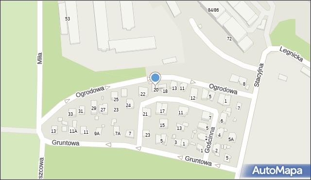 Chorzów, Gościnna, 20, mapa Chorzów