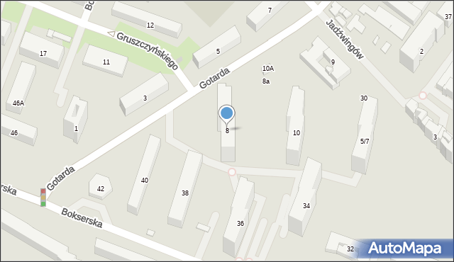 Warszawa, Gotarda, 8, mapa Warszawy