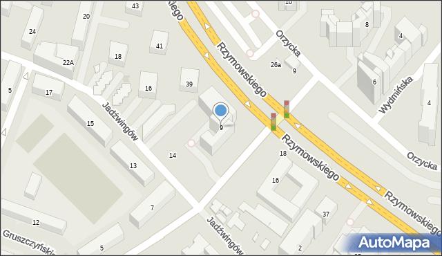 Warszawa, Gotarda, 9, mapa Warszawy