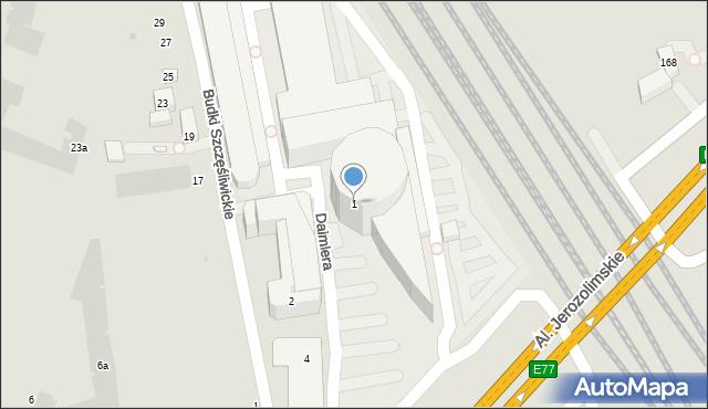 Warszawa, Gottlieba Daimlera, 1, mapa Warszawy