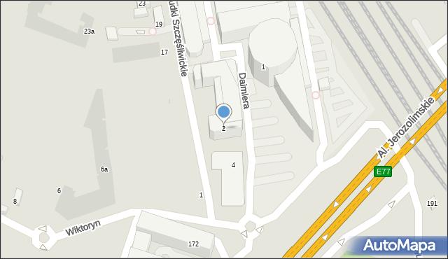 Warszawa, Gottlieba Daimlera, 2, mapa Warszawy