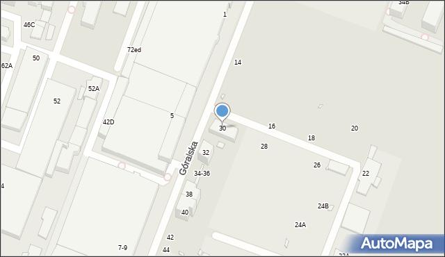 Wrocław, Góralska, 30, mapa Wrocławia
