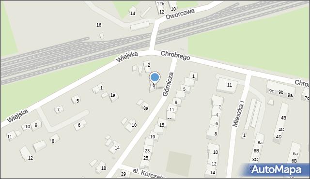 Żarów, Górnicza, 8, mapa Żarów