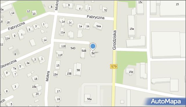 Błonie, Grodziska, 54, mapa Błonie