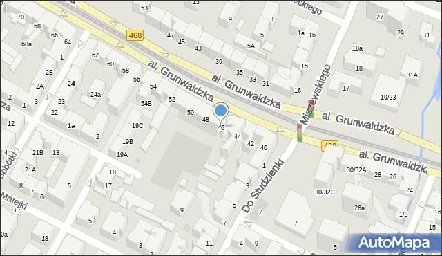 Gdańsk, Grunwaldzka, al., 46, mapa Gdańska