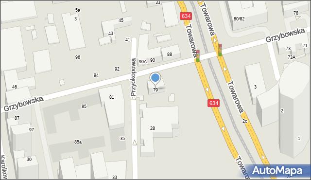 Warszawa, Grzybowska, 79, mapa Warszawy