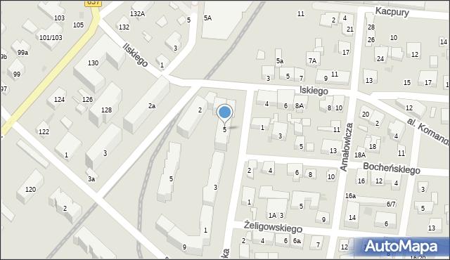 Warszawa, Grawerska, 5, mapa Warszawy