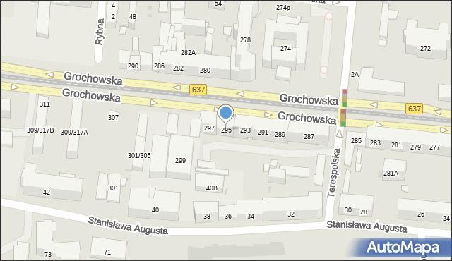 Warszawa, Grochowska, 295, mapa Warszawy