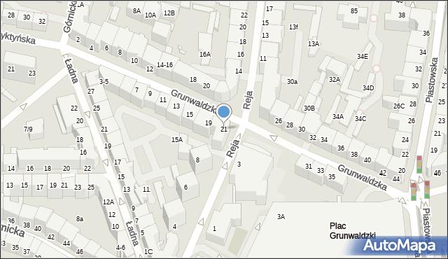 Wrocław, Grunwaldzka, 21, mapa Wrocławia