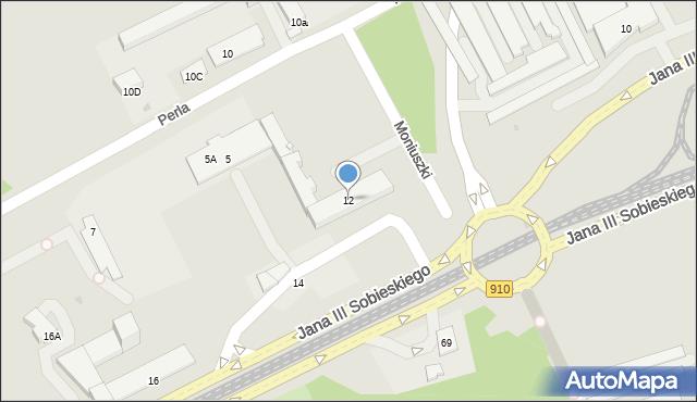 Dąbrowa Górnicza, Jana III Sobieskiego, 12, mapa Dąbrowa Górnicza