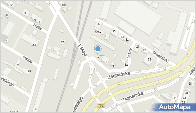 Kielce, Jasna, 1, mapa Kielc