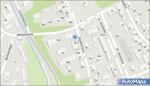 Nowy Sącz, Jagiellońska, 52, mapa Nowego Sącza