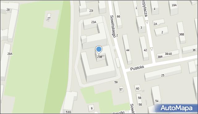 Warszawa, Jana Olbrachta, 23B, mapa Warszawy