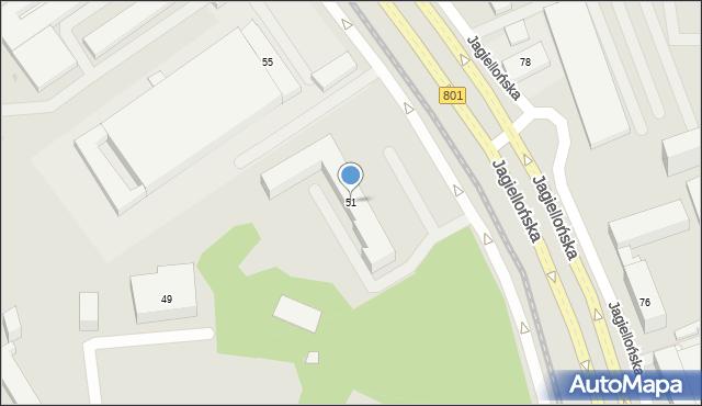 Warszawa, Jagiellońska, 51, mapa Warszawy