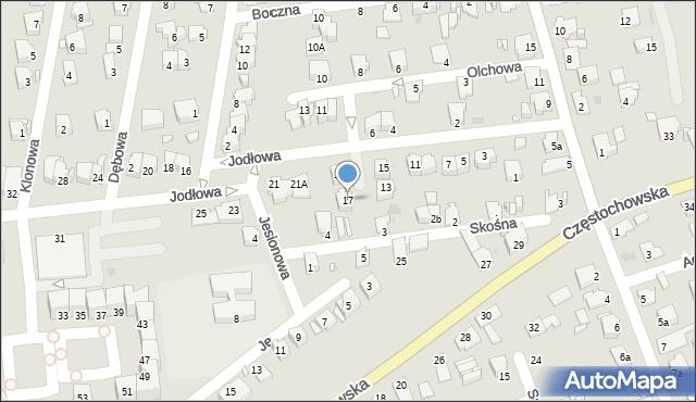 Opole, Jodłowa, 17, mapa Opola