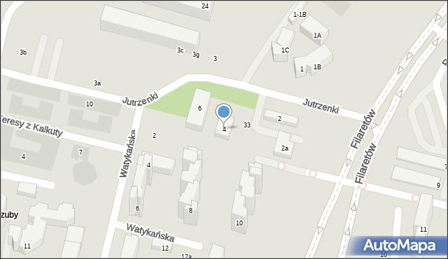 Lublin, Jutrzenki, 4, mapa Lublina