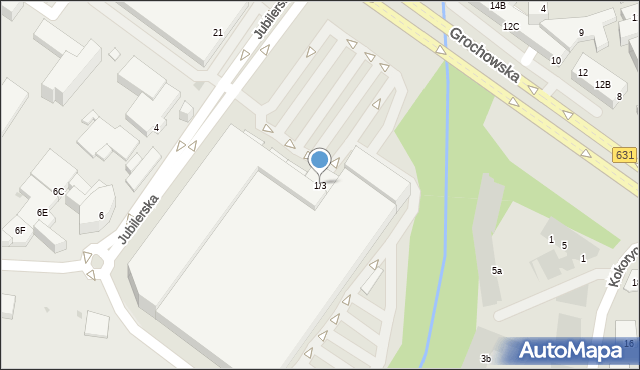 Warszawa, Jubilerska, 1/3, mapa Warszawy