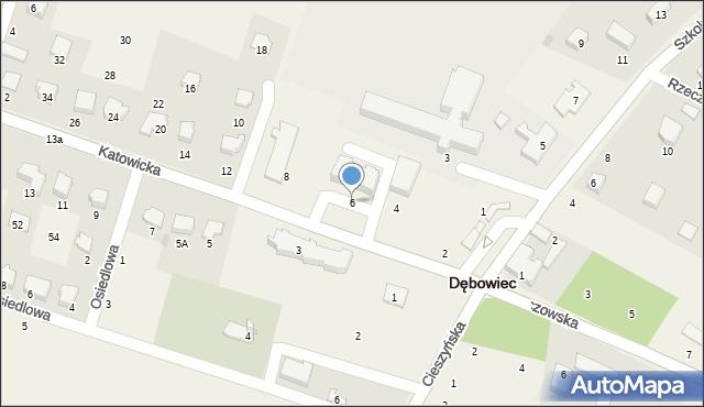 Dębowiec, Katowicka, 6, mapa Dębowiec
