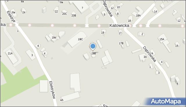 Jaworzno, Katowicka, 19B, mapa Jaworzno