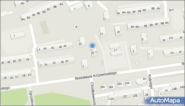 Kędzierzyn-Koźle, Kazimierza Wielkiego, 12, mapa Kędzierzyna-Koźle