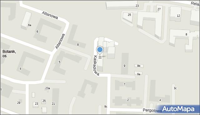 Lublin, Kaskadowa, 11, mapa Lublina