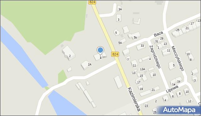 Puławy, Kazimierska, 4, mapa Puław