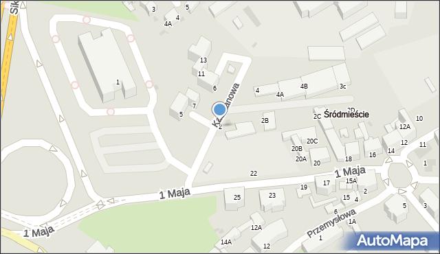 Wałbrzych, Kasztanowa, 2, mapa Wałbrzycha