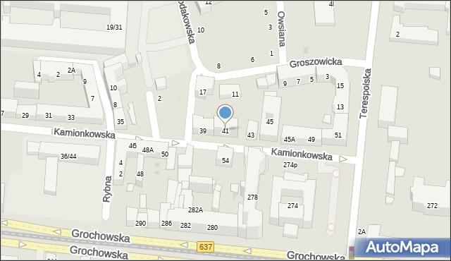 Warszawa, Kamionkowska, 41, mapa Warszawy