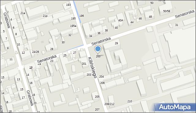 Łódź, Kilińskiego Jana, 200, mapa Łodzi