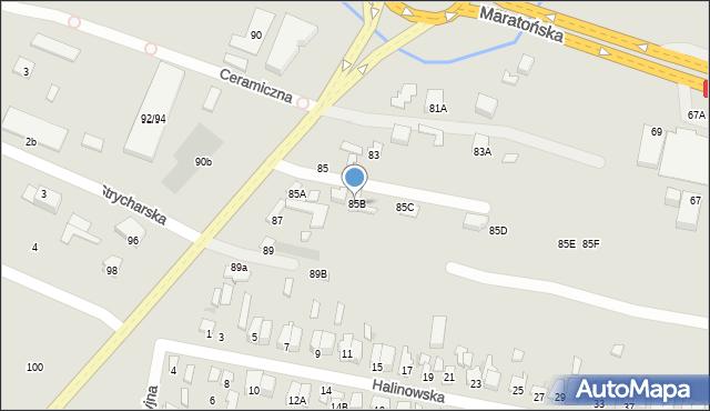 Radom, Kielecka, 85B, mapa Radomia
