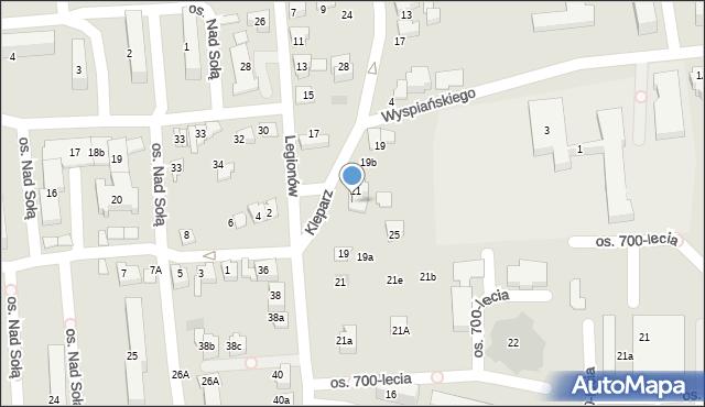 Kęty, Kleparz, 23, mapa Kęty