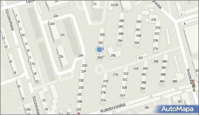 Gdańsk, Kołobrzeska, 25A, mapa Gdańska