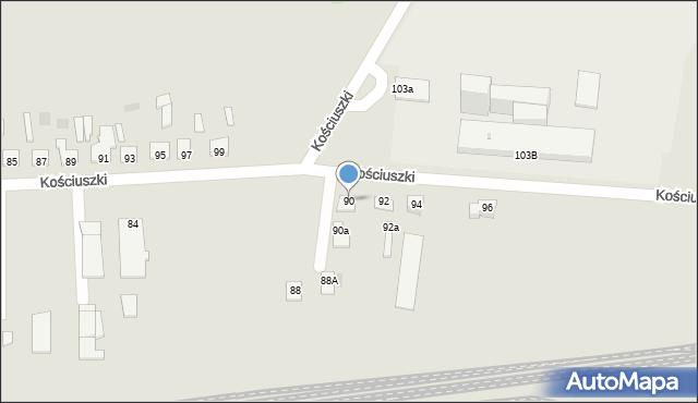 Międzyrzec Podlaski, Kościuszki Tadeusza, 90, mapa Międzyrzec Podlaski