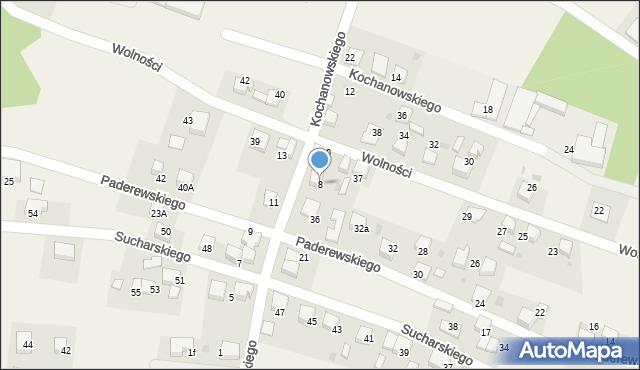 Piasek, Kochanowskiego Jana, 8, mapa Piasek