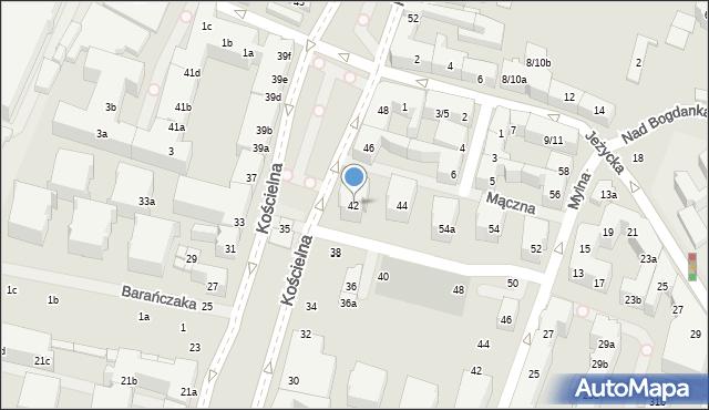 Poznań, Kościelna, 42, mapa Poznania