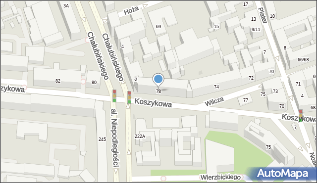Warszawa, Koszykowa, 78, mapa Warszawy