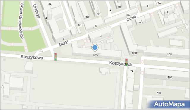 Warszawa, Koszykowa, 82A, mapa Warszawy