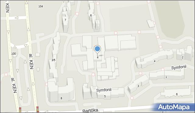 Warszawa, Koncertowa, 4, mapa Warszawy