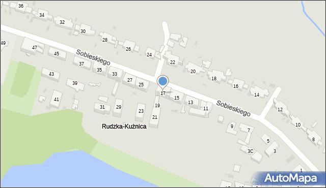 Ruda Śląska, Króla Jana III Sobieskiego, 17, mapa Rudy Śląskiej