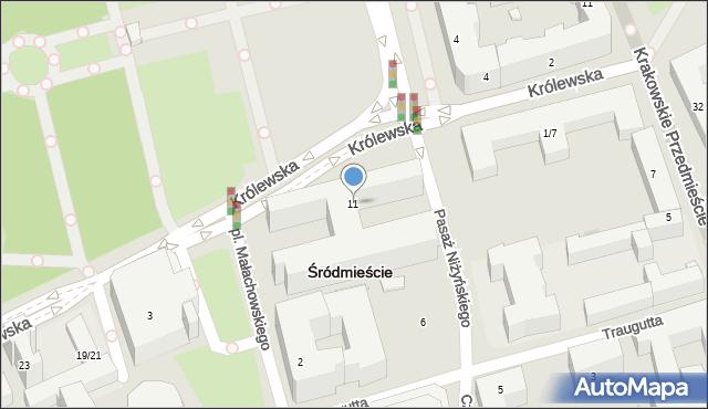 Warszawa, Królewska, 11, mapa Warszawy